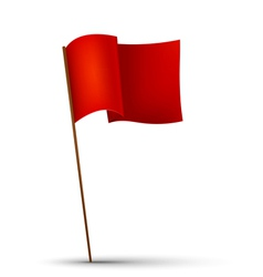Red flag on the white background vector image