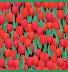 red tulips seamless background abstract background vector image