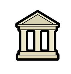School symbol icon vector