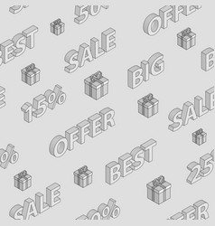 seamless pattern on sales vector image
