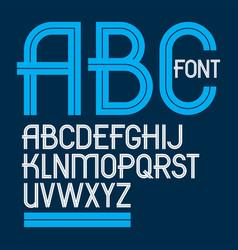 Set of upper case english alphabet letters vector