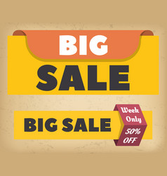 shopping promotion big sale and discount vector image