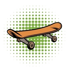 Skateboard comics style icon vector image