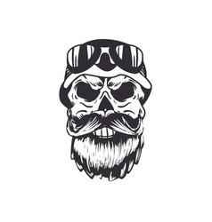 Skull with beard vector