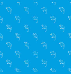small monkey pattern seamless blue vector image