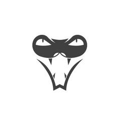 Snake viper silhouette vector