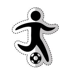 soccer player silhouette icon vector image