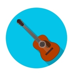 Spanish acoustic guitar icon in flat style vector