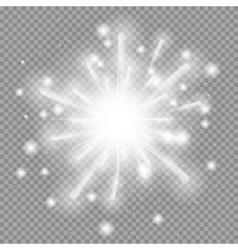 Star Burst with Sparkles on vector