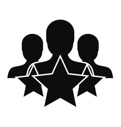 star customer retention icon simple style vector image