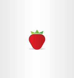 strawberry logo icon element vector image