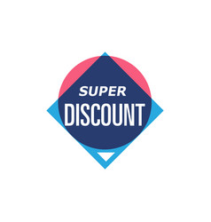 super discount isolated sticker vector image