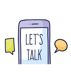 talk phone chat concept talk application logo vector image