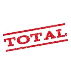 Total Watermark Stamp vector image