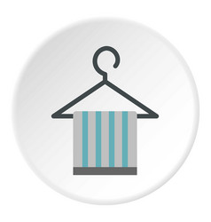 Towel on hanger icon circle vector