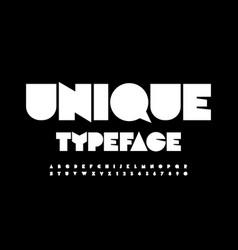 unique typeface creative white alphabet vector image