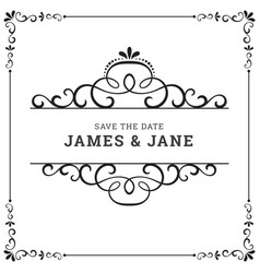 wedding card frame border vector image