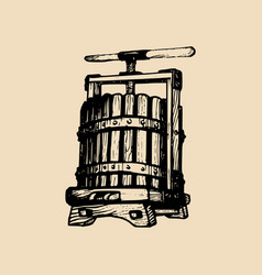 wine press alcoholic vector image