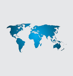 World map isolate on blank background fla vector
