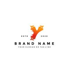 Y letter logo fire design vector