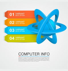 an atom info vector image