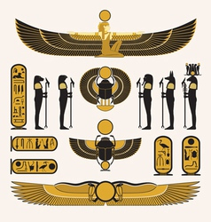 Ancient Egyptian symbols and decorations vector image vector image