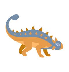ankylosaurus blue and orange dinosaur of jurassic vector image vector image