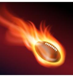 Burning football vector image vector image