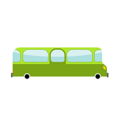Bus cartoon style transport on white background vector