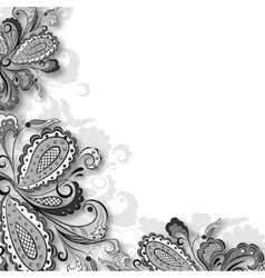 Decorative floral graphic vector image vector image