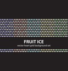 heart pattern set fruit ice seamless vector image