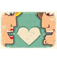 Lovers Speaking and bubble for text vector image vector image