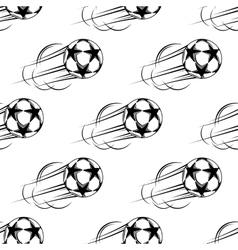 Soccer ball speeding through the air vector image