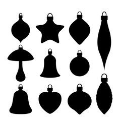 A set of Christmas baubles vector image vector image