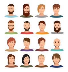 adult male portraits collection internet vector image vector image
