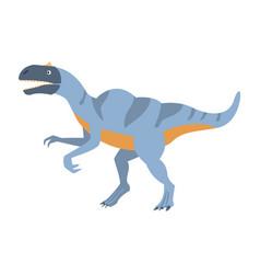 blue velociraptor dinosaur of jurassic period vector image vector image