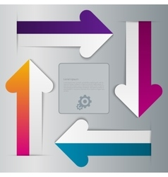 Infographics four paper arrows vector