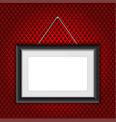 photo frame hanging rectangle with black border vector image