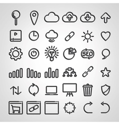 Set of SEO icons vector image vector image