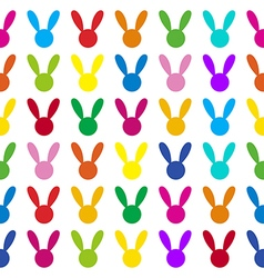 Colorful Rabbit White Background vector image vector image