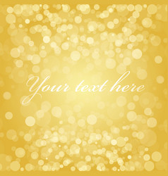 gold blur background vector image vector image