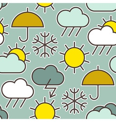Seamless pattern of weather symbols vector image vector image