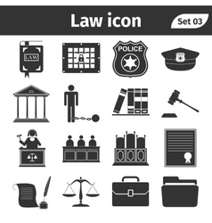 Simple set of Law and Justice related icons set vector image vector image