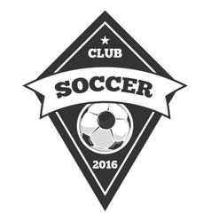 soccer logo template emblem in black vector image vector image