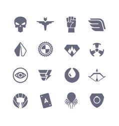 Superheroes icons super power superhero vector