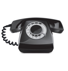 telephone vintage isolated 3d vector image vector image