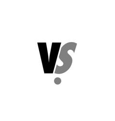 vs v s black white grey alphabet letter logo icon vector image