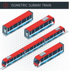 isometric subway train vector image