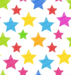 Seamless texture with colorful stars elegance kid vector