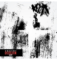 Set of dirty scratched smeared stained textures vector
